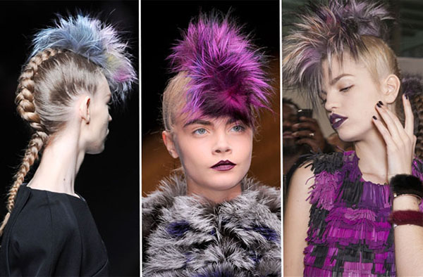 Furry Faux-hawks at Fendi