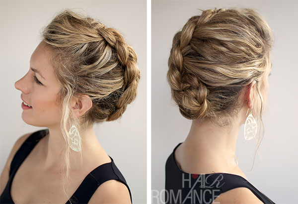 Hair Romance - Dutch Braided updo for curly hair