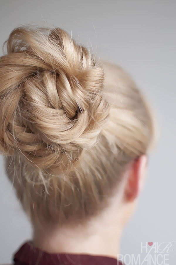 Hair Romance - Fishtail Braided Bun Hairstyle
