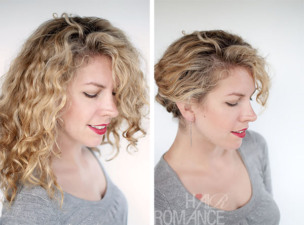 Hair Romance - Keep your curls under control - easy twist & pin updo