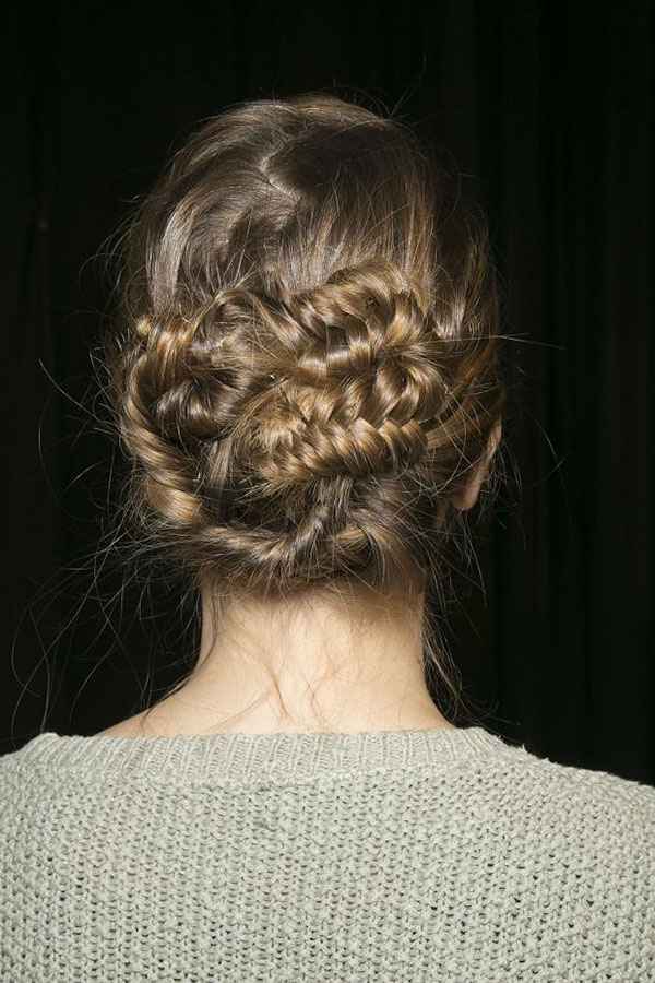Philosophy di Alberta Ferretti NYFW 2013 hair - braid