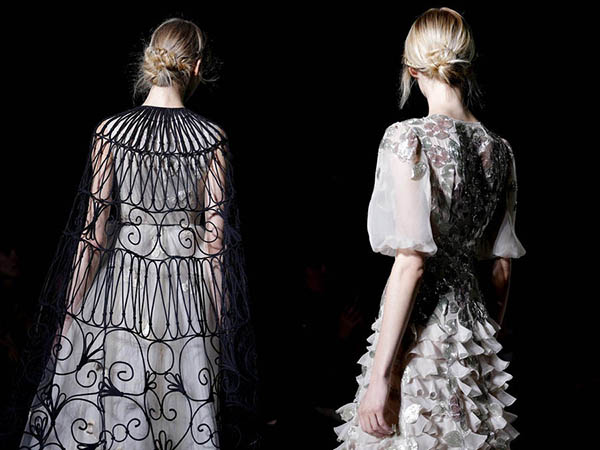 Valentino braid chignons - Paris Couture hair 2013