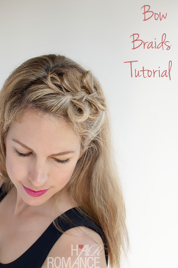 Bow braids are a super cute way of making an accessory out of your
