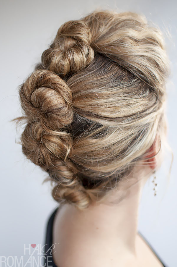 Hair Romance - French Twist and Pin Tutorial in curly hair