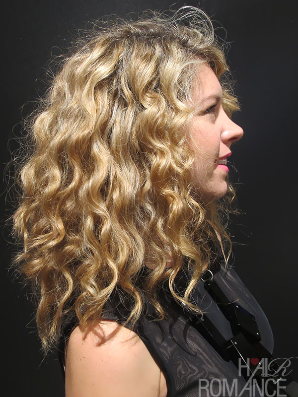 Big curls at fashion week