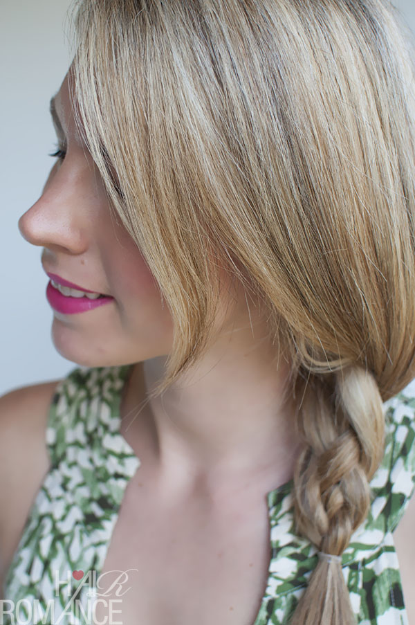 Hair Romance - 4 strand side braid