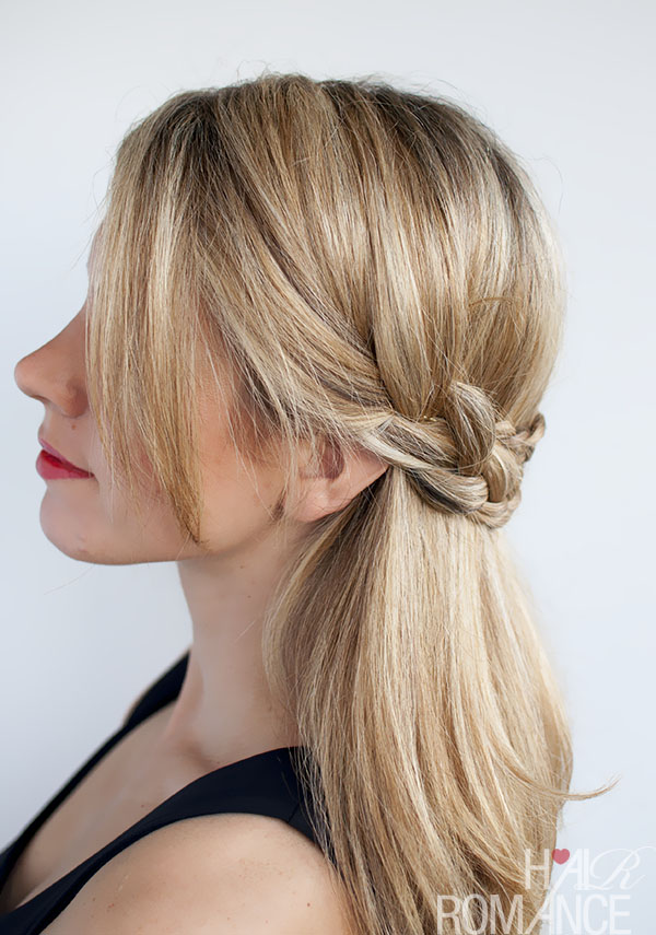 Hair Romance - half crown braid hairstyle