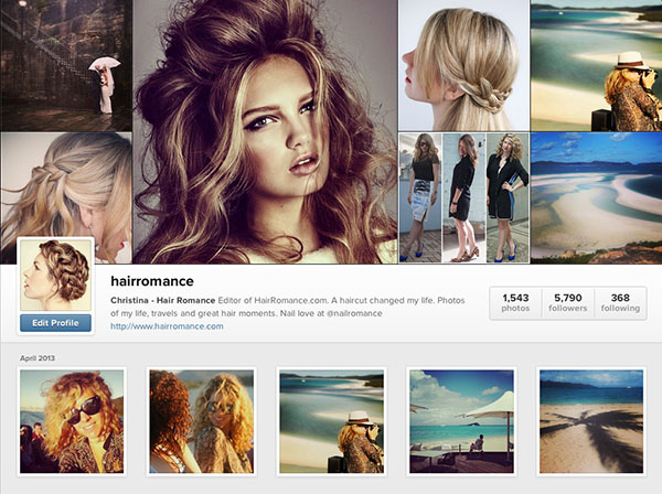 Instagram accounts to follow - Hairromance