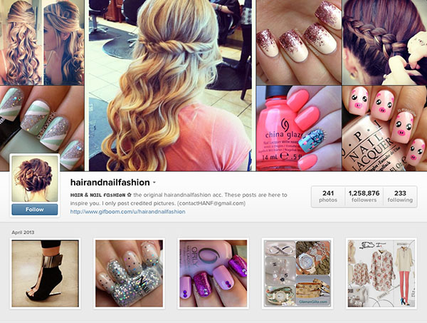 Instagram accounts to follow - hairandnailfashion