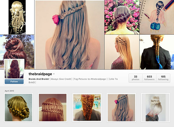 Instagram accounts to follow - thebraidpage