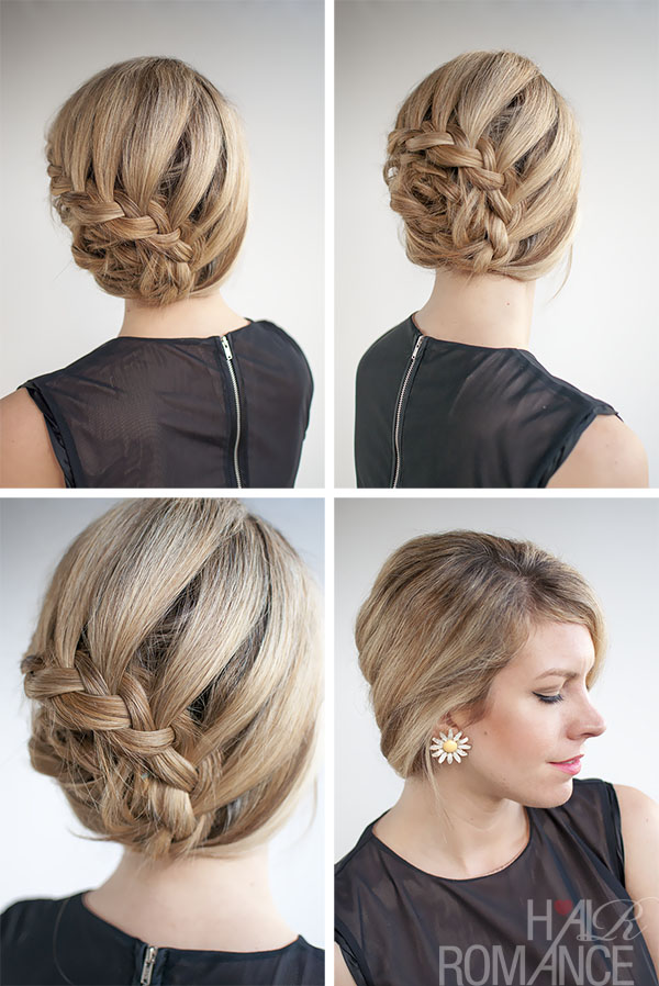 Hair romance curved braided updo hairstyle tutorial