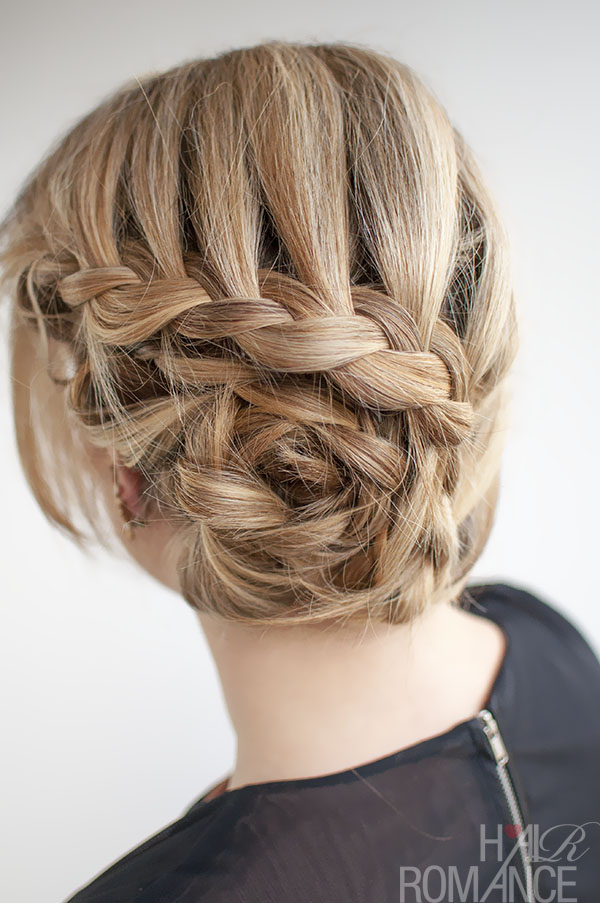 ... upstyle for an event or formal? Try this curved lace braid hairstyle