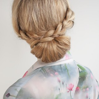 Hair Romance - 30 Buns in 30 Days - Day 12 - The Braid Over Bun Hairstyle