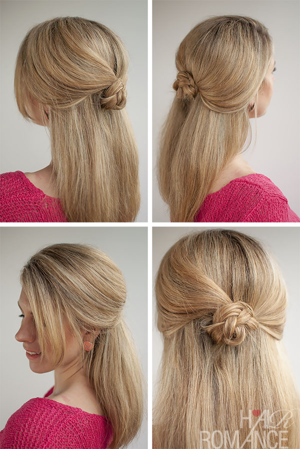 Hair Romance - 30 Buns in 30 Days - Day 23 - Half up braid bun hairstyle