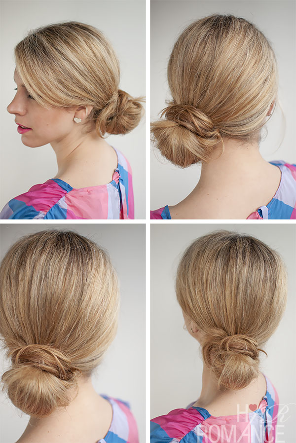 Hair Romance - 30 Buns in 30 Days - Day 24 - Side knot bun hairstyle