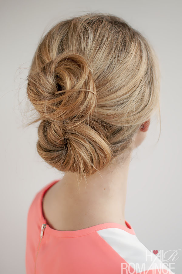 Hair Romance - 30 Buns in 30 Days - Day 26 - The double bun