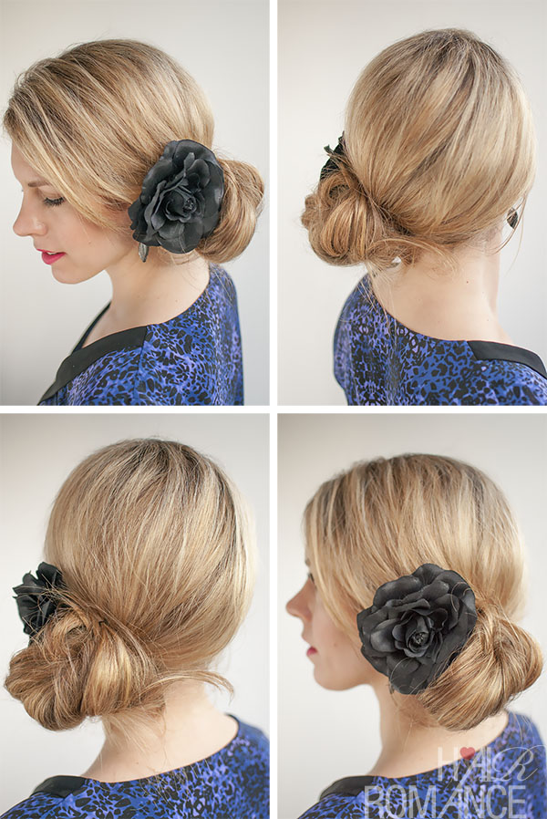 Hair Romance - 30 Buns in 30 Days - Day 28 - Corsage side bun