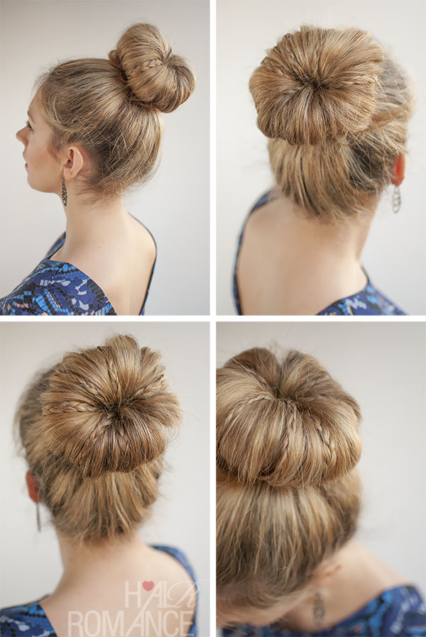 Hair Romance - 30 Buns in 30 Days - Day 30 - Mini Braid Bun
