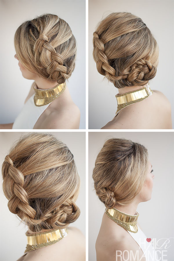 Model Prom Hairstyles Bun Braid Prom Hairstyles Side Bun With Braid