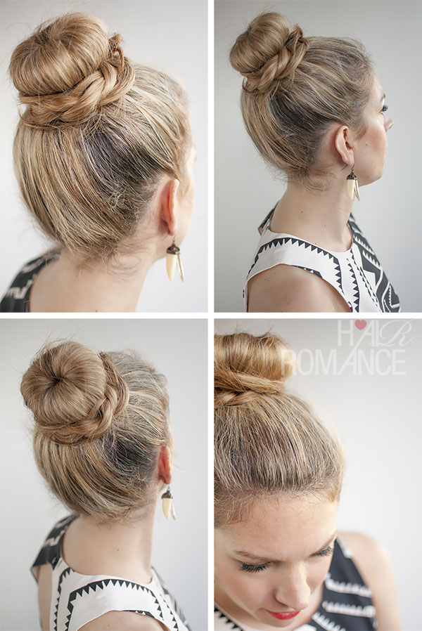 Hairstyle Using Bun : ... - 30 Buns in 30 Days - Day 11 - The Donut Bun and B\raid Hairstyle