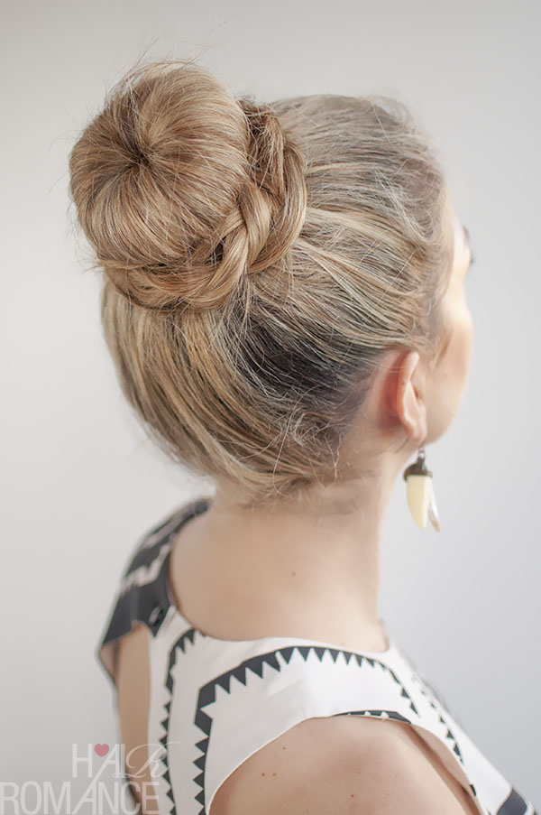 Hair Romance - 30 Buns in 30 Days - Day 11 - The Donut Bun and B\raid Hairstyle