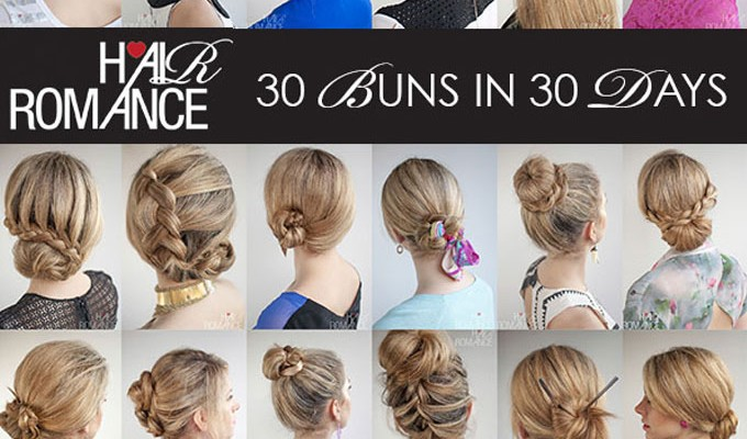 The 30 Buns in 30 Days Hairstyle ebook is here!
