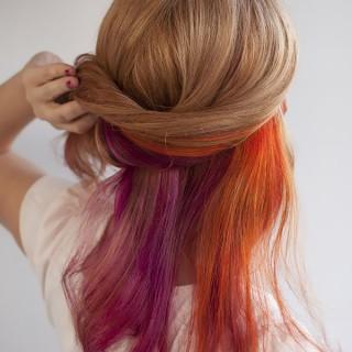 Hair Romance - bright multi colour hair
