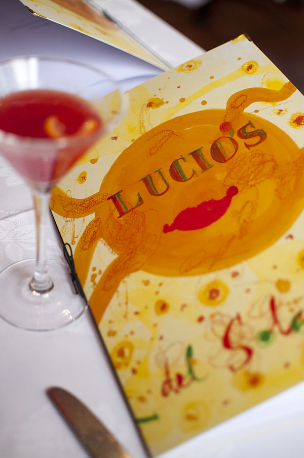 The Menus at Lucios by John Olsen