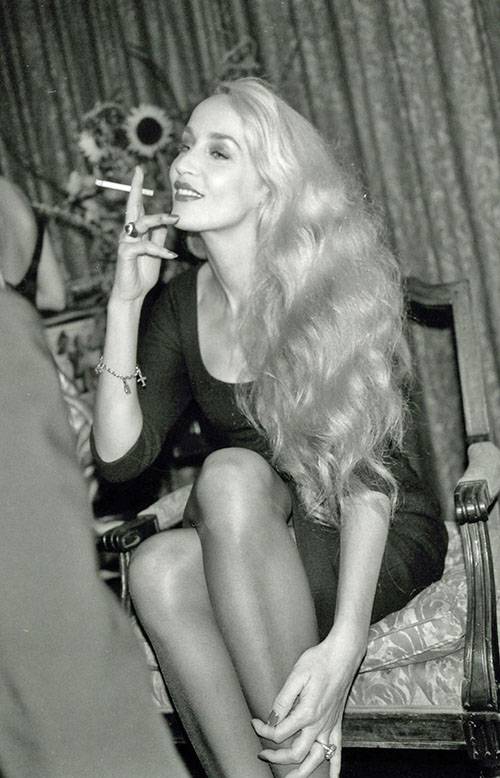 Jerry Hall - big hair