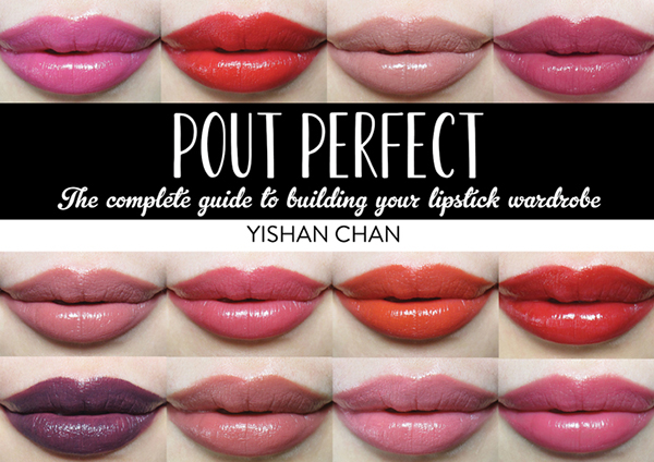 Beauty Swatch Pout Perfect lipstick book