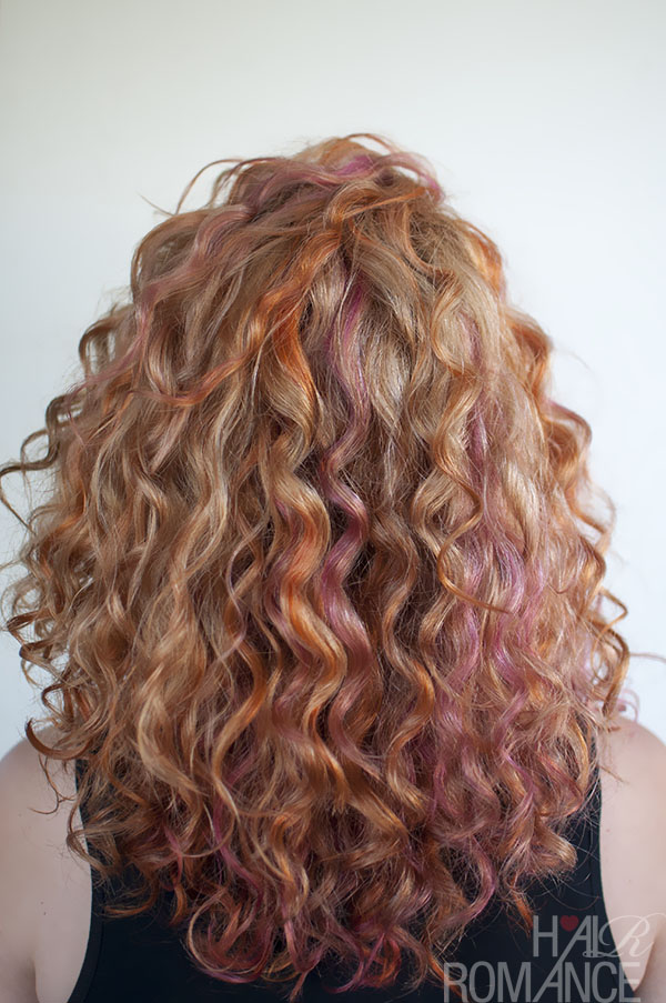 Hair Romance - pink and orange curls 2
