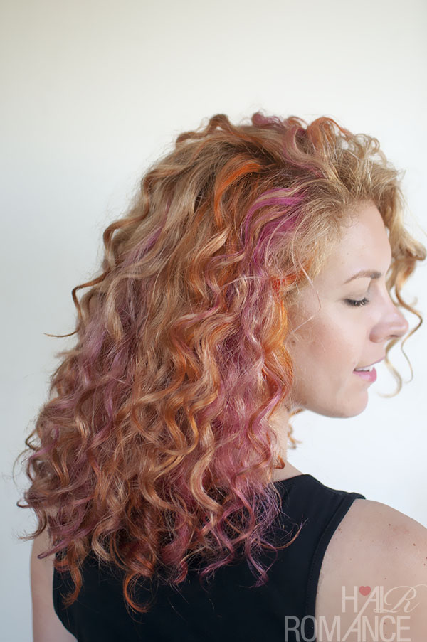 Hair Romance - pink and orange curls 3