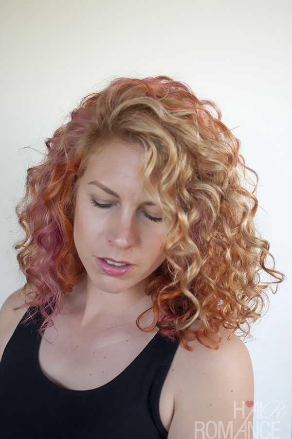 Hair Romance - pink and orange curls 4