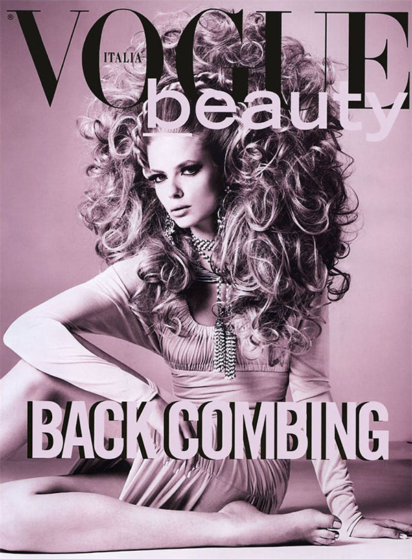 Big Hair Friday - Julia Stegner - Richard Burbridge - Vogue Italia