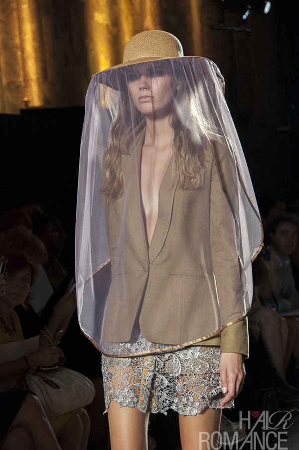 Watch out for big hats! As seen at Francesca Liberatore SS14 MFW