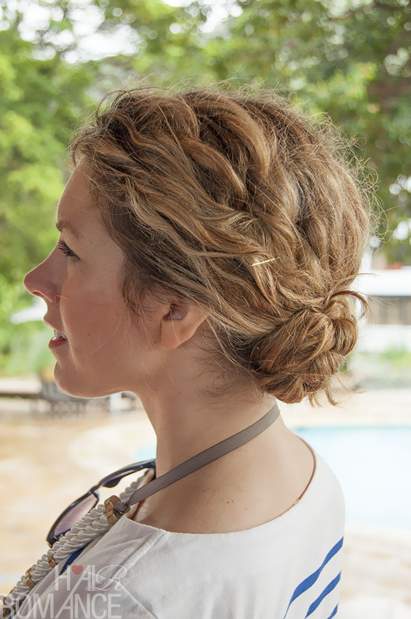 Cute Braided Bun Hairstyles For Short Hair : Minute hairstyle braided bun in curly hair new
