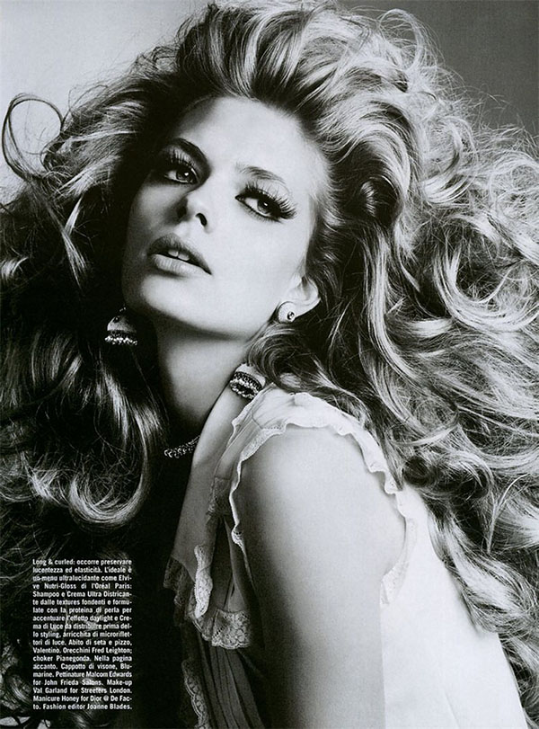 Big Hair Friday - Julia Stegner Ph. Richard Burbridge Vogue Italia September 2005 - 2