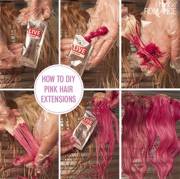 Hair Romance - How to DIY pink hair extensions tutorial