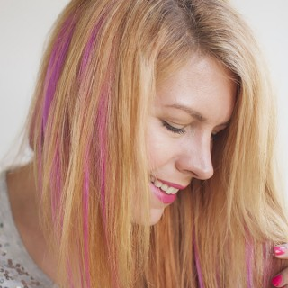 How to DIY pink highlights in your hair