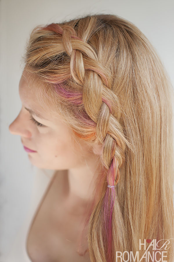 Hair Romance - Side-swept Dutch braid hairstyle