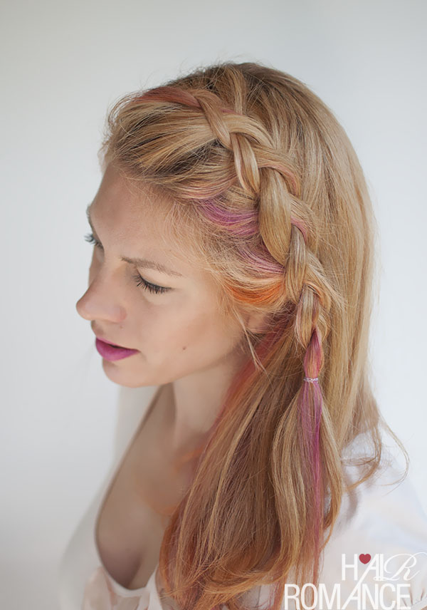 Hair Romance - Side-swept Dutch braid