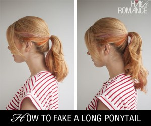 How to fake a long ponytail without hair extensions – the double pony trick