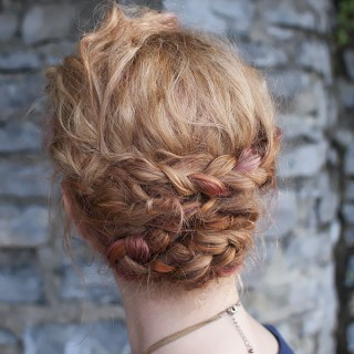 Holiday hair – Braided updo tutorial
