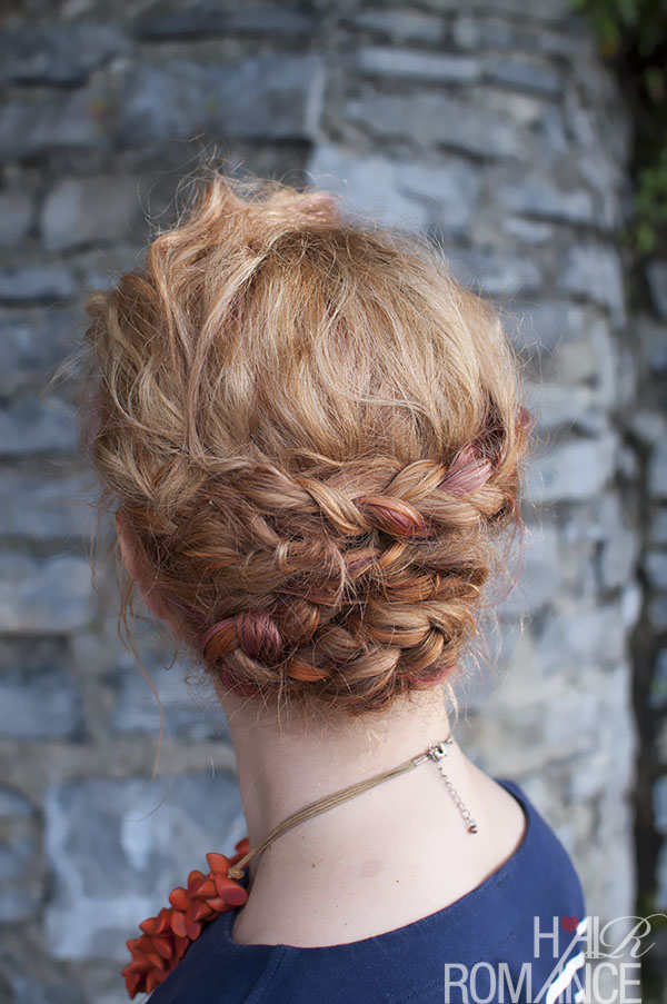 Hair Romance - multi braid updo