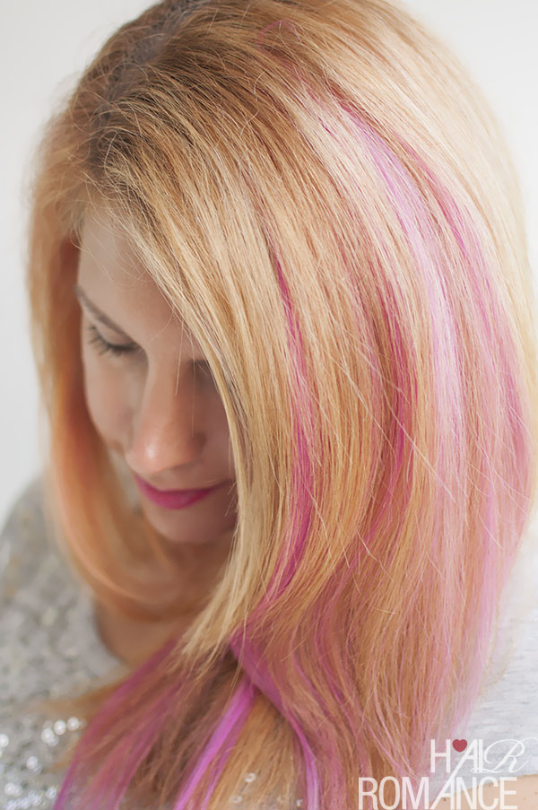 How To Diy Pink Highlights In Your Hair Hair Romance