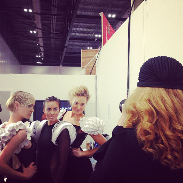 Hair Romance shooting at Salon International