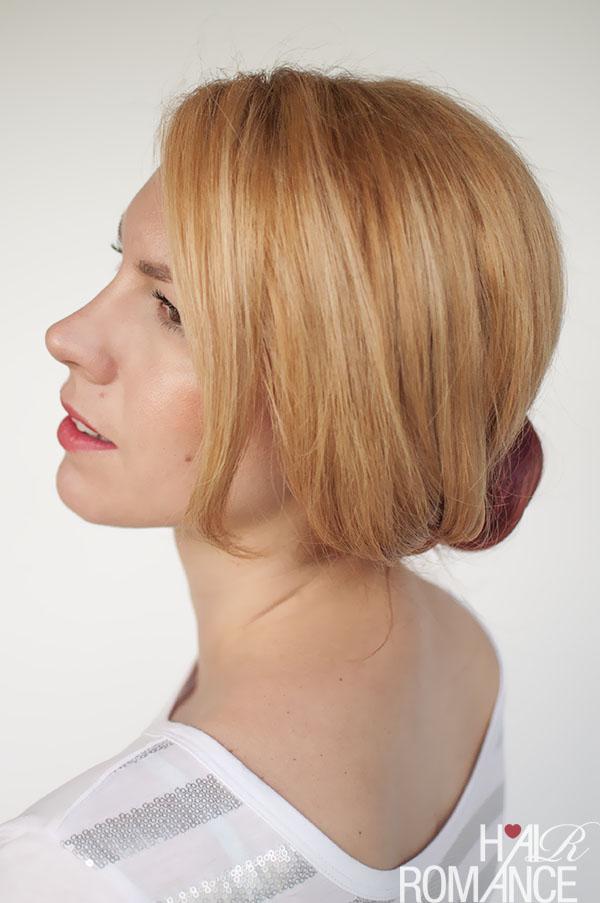 Hair Romance - Curved braid bun updo