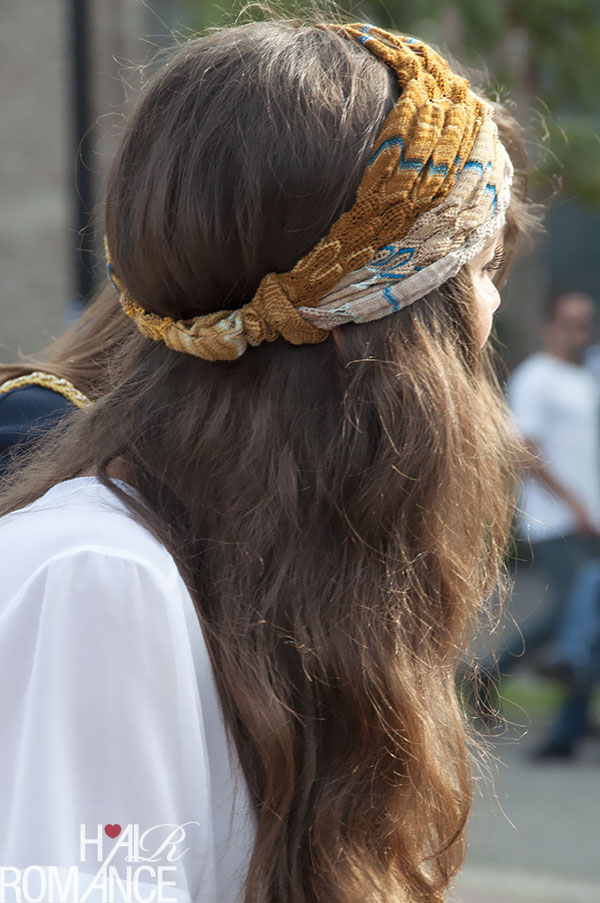 Hair Romance - Street style hair outside Missoni Milan Fashion Week