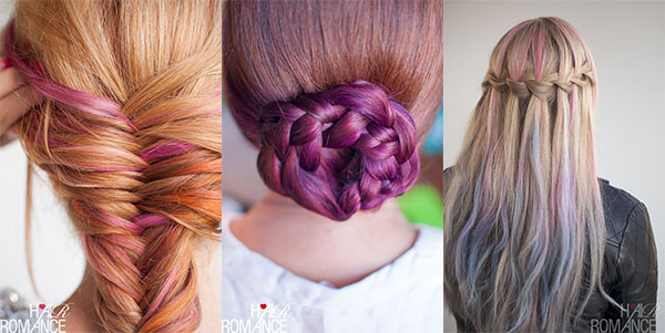 Hair Romance - holiday hair guide - fun colourful ideas