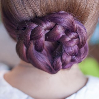 Hair Trends – Purple Ombre Hair and Plaits